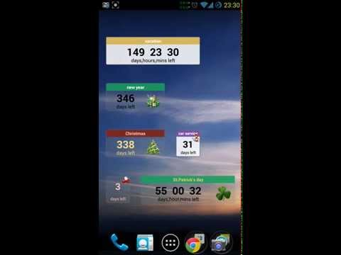 Video of Event Countdown Widget