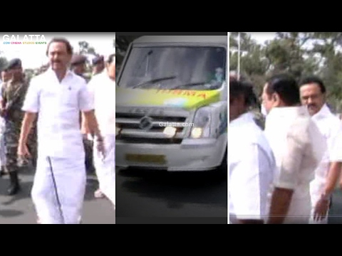 MK Stalin paves way for the ambulance during the protest