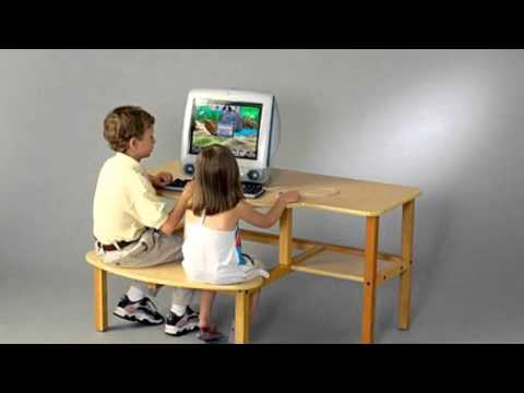 Video Video ad for the Childs Wooden Computer Desk For 1