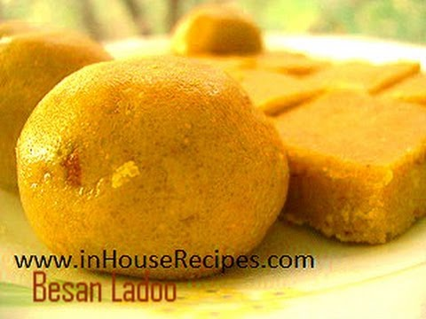 Making Besan ladoo www.inHouseRecipes.com