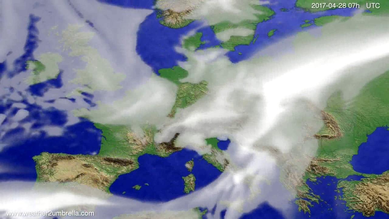 Cloud forecast Europe 2017-04-24