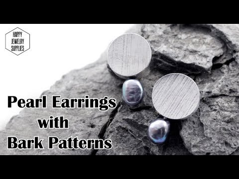 DIY Tutorial - How to make the sterling silver earrings with black pearl