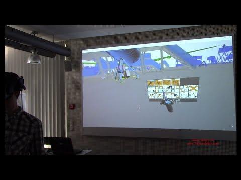 3DViewStation VR-Edition est une alternative économique au mur d'image (Powerwall) ou au Cube immersif 3D (Cave)
