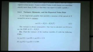 Probability And Random Variables - Week 5 - Lecture 1