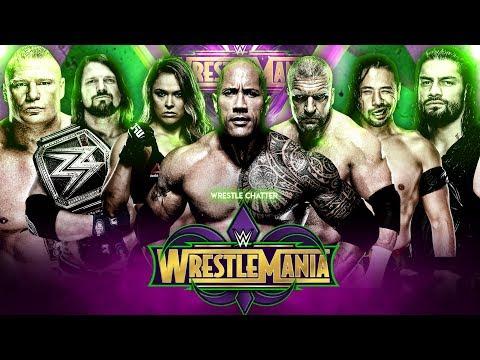 WWE Wrestlemania 34 Match Card Predictions | Wrestlemania 34 Predictions