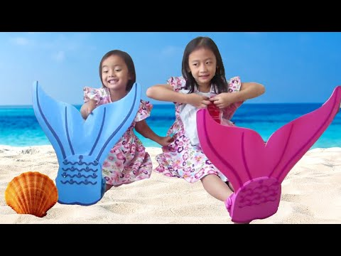 Putri Duyung anak kecil dan Balon Ajaib - Mermaid Tail and Magic Water Balloon