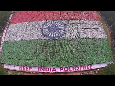 Biggest Human Flag | Indian Flag