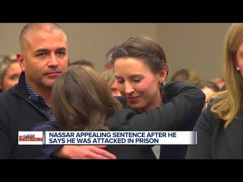 Larry Nassar claims he was attacked in prison; files appeal to retry case