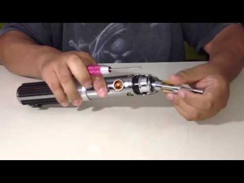Ecig Mods - Hasbro Star Wars lightsaber turned into a vw mod.