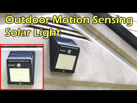 Solar Powered Motion Sensing 12 LED Waterproof Light - Innoo Tech