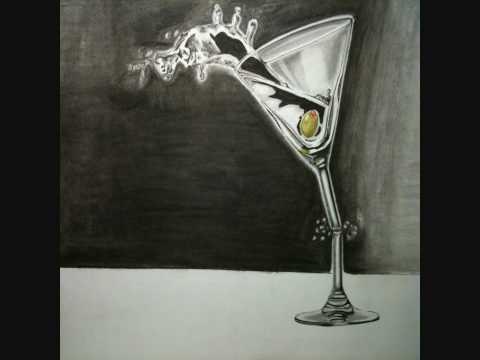 Martini Glas Zeichnung