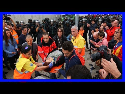 Spanish police storm polling station in catalonia independence vote News Today