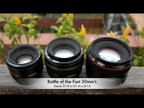 Canon EF 50mm 1.2L lens - Everybody, as they say, must have a fast fifty in their kit bag. Even if it's on a crop-sensored camera, a 50mm offers a great compromise in size and weight ...