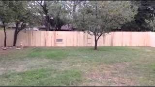 Oh how a fence can change a backyard