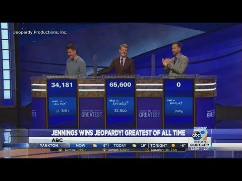 Jennings Wins Jeopardy! Greatest Of All Time