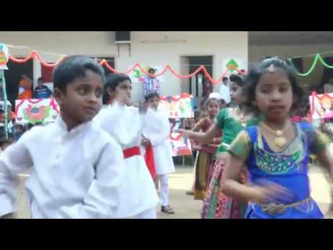 Sankranthi Cultural fest January 2017 - Gobbiyallo Gobbiyallo song performance by III Class Students