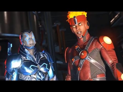 Injustice 2 - Blue Beetle And Firestorm Scene