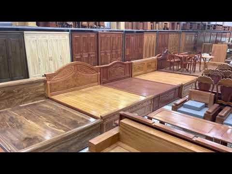 Báo giá mẫu giường ngủ gỗ tự nhiên | Đồ Gỗ Cường Nga 033 846 7155