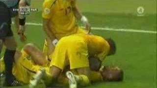 Ljungbergs Tor gegen Paraguay