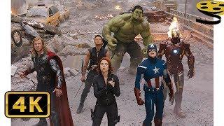 Мстители против Армии Читаури (Часть 1) | Мстители | 4K ULTRA HD