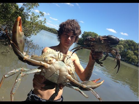 Aussie Teens Go Crabbing By Hand And Have Seafood
