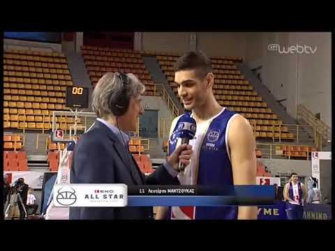 All Star Game | Μαντζούκας: «Έπρεπε να αυτοσχεδιάσω για να κερδίσω τον Αγραβάνη» | 08/02/2020 | ΕΡΤ