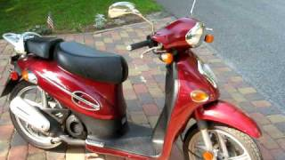 4. Kymco People 50 scooter with 72 cc kit, fast