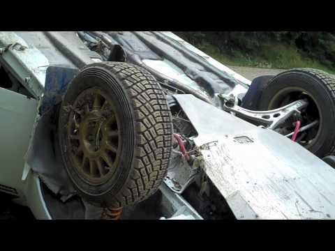 Nigel Seabold Crash Severn Valley Rally 2010