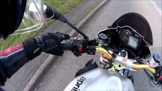2. Aprilia Tuono 2009 walk round and ride with Delkevic exhausts