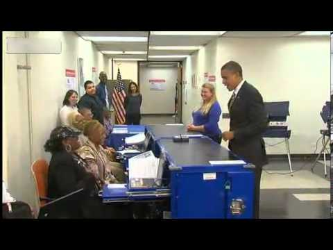 ID - Obama asked to show ID while voting in Chicago. lol... If he'd forgotten to bring his driver's license, this clip would have been 24-karat comedy gold.