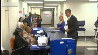 Obama asked to show ID while voting in Chicago - YouTube