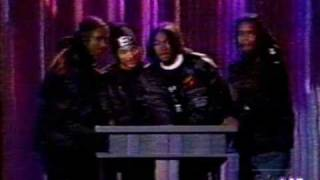 Bone Thugs-N-Harmony present a Billboard Award to The Notorious BIG 1995