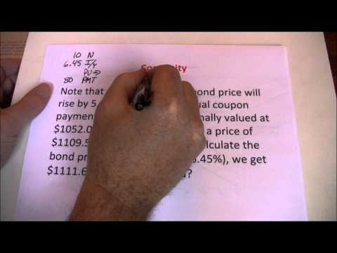 Duration - This video illustrates how duration can be used to approximate the change in bond price given a change in interest rates. It also introduces and discusses co...