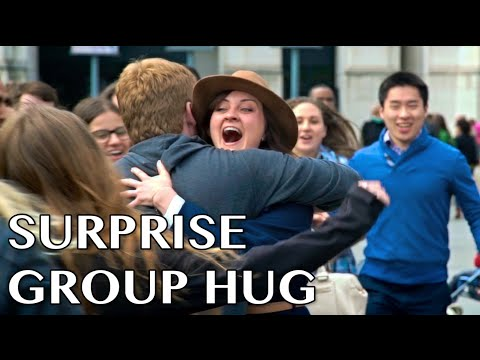 Surprise Group Hug