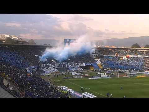 MILLOS vs nacional 9 de febrero 2014 - Comandos Azules - Millonarios