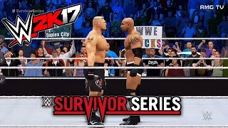 wwe-2k17-brock-lesnar-vs-goldberg-survivor-series-2016-recreation