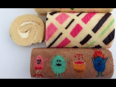 Patterned Roll Cake Recipe HOW TO COOK THAT Ann Reardon dumb ways to die