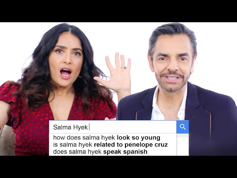 Salma Hayek and Eugenio Derbez Answer the Internet s Most Searched Questions About