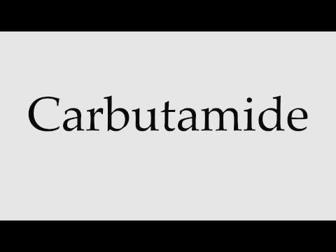 How to Pronounce Carbutamide