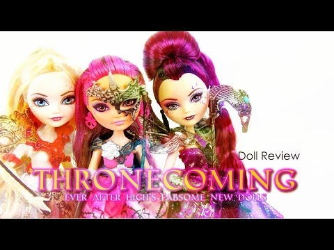 high - by request: Check out the New Thronecoming Dolls from Ever After High ... Perfect for any doll lover XD Our Second Channel: http://www.youtube.com/createsomethingfab Official Website: http://ww...