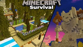 Minecraft 1.15 Survival : Building the Royal Gardens and An Awesome Desert Statue