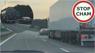 Długie wyprzedzanie TIRem kontra wkurzony kierowca Audi