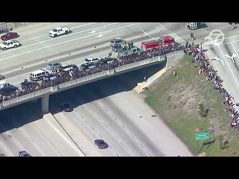 Emotional procession for Ventura County Sheriff's Sgt. Helus | ABC7