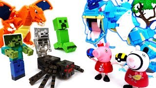 Video Minecraft Monster Alert~! Gyarados, Charizard Fight The Monsters - ToyMart TV MP3, 3GP, MP4, WEBM, AVI, FLV Oktober 2018