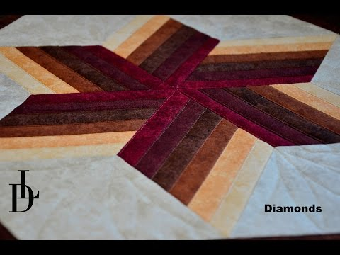 tutorial patchwork - how to make a tablecloth with diamond technique