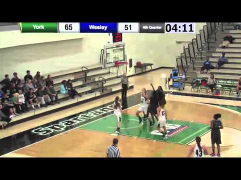 WBB: York vs Wesley Highlights - 12/2/15
