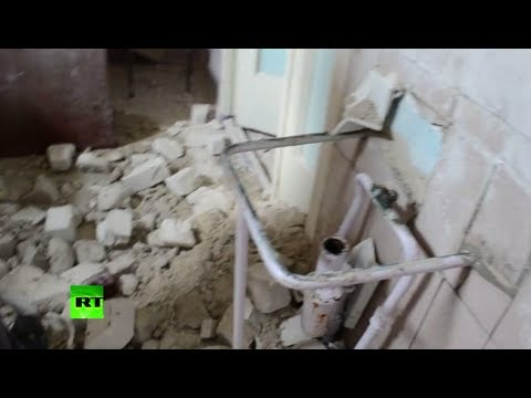 RAW: Slavyansk children's hospital after Ukrainian army artillery attack