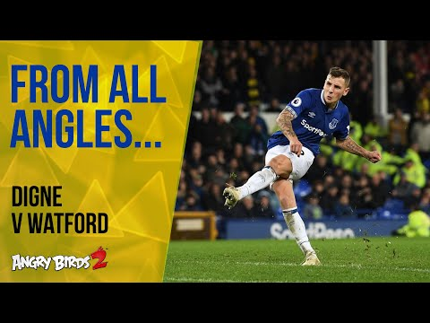 Video: LUCAS DIGNE'S FIRST EVERTON GOAL | FROM ALL ANGLES: EVERTON V WATFORD