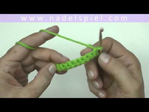 Häkeln lernen mit eliZZZa #02 * Feste Maschen auf Luftmaschenkette