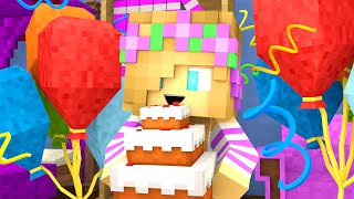 Minecraft School-BABY BIRTHDAY PARTY!!
